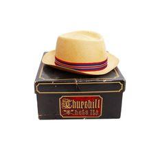 26477af65b580 A Churchill Ltd. Ecuadorian panama stye hat with a box. This off-white. EBTH