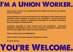 Thank a union worker. Support good jobs!!