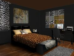 Bedroom Ideas Leopard animal print bedroom ideas - creditrestore