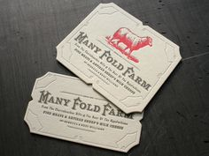 Many Fold Farm Business Cards | Design: Studio On Fire | Client: Studio On Fire | Image 1 of 5