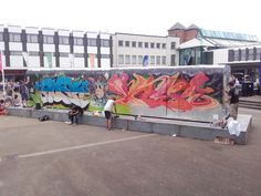 #Upfest #Subwaycars being covered in #Graffiti by #VariousArtist at #Hypefest #Gloucester #2016.