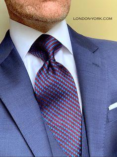 Dress Suits For Men, Mens Suits, Men Dress, Business Dresses, Business Outfits, Shirt Tie Combo, Blue Fashion, Mens Fashion, Tie A Necktie
