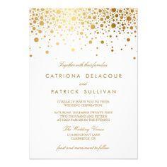 gold confettie invitations
