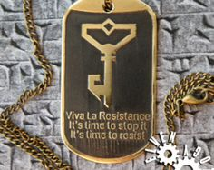 Ingress dog tag (Resistance) Ingress Resistance, Dog Tags, Outfit, Etsy, Blue, Outfits, Kleding, Clothes