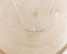 A personalized name necklace that can be made in sterling silver, gold or rose gold. We can have this necklace made with any word or name that you would like! DETAILS Metal: Solid sterling silver, gold or rose gold options Width: 1.25 Chain: 16, 18, or 20 chain  PERSONALIZATION Please leave the Dog Necklace, Custom Name Necklace, Arrow Necklace, Or Rose, Rose Gold, Metal Solid, Necklace Lengths, Custom Jewelry, Gift Guide
