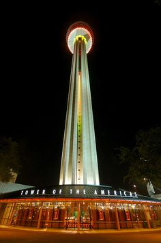 The Tower of the America's in San Antonio, Texas. My husband and I actually had a date here for our honeymoon!