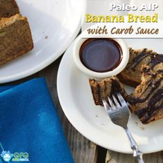 Paleo Banana Bread with Carob Sauce (AIP and Egg Free) @grassfedgirl