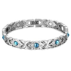 20% Off One Sale! Buy Now Free Shipping! This is a bracelet from Rainso with a magnet attached to it. Magnets are beneficial to our health. Appropriate supplementation of magnets can enhance immunity and improve discomfort, helping sleep. #jointpain #painrelief #stainlesssteelbracelet #womenbracelet #magnetictherapy #magneticbracelet #energybracelet #rainso #healthcare #onlineshopping #healthbracelet#wellness#magneticbracelets#magnetbracelet#weightloss  Bracelets, Bangles, Necklaces, Health Bracelet, Stainless Steel Bracelet, Jewlery, Magnets, Fine Jewelry, Gems