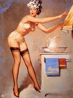 Illustration de Gil Elvgren