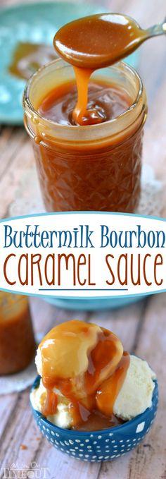 You may never buy caramel sauce again after you make this incredible Buttermilk Bourbon Caramel Sauce – bourbon optional!: