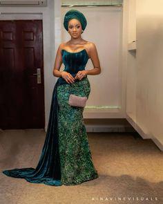 Nigerian Lace Styles Dress, Aso Ebi Lace Styles, African Lace Styles, Lace Dress Styles, African Lace Dresses, Latest African Fashion Dresses, African Dresses For Women, African Print Fashion, African Attire