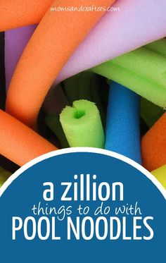 'Tis the season of stores overrun with pool noodles, cheaper by the dozen, and so the time to look into pool noodle crafts and activities to try! You'll find great gross motor activities, summer fun ideas, easy crafts and super cool DIY projects - all using budget-friendly pool noodles!