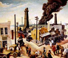 Thomas Hart Benton, Boomtown, 1928