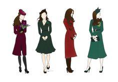 Kate Middleton Duchess of Cambridge Fashion Prints by RepliKateIt, $20.00
