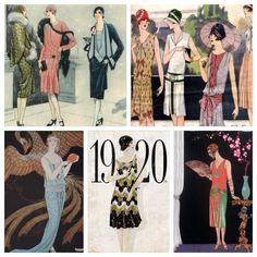 20s fashion illustrations