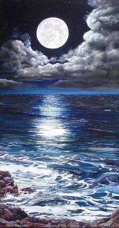 Moonlight   -  Maanlicht by Rita Camphuijsen