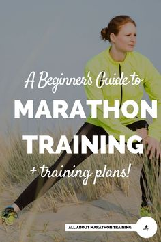 Here is a guide for beginner marathon training. Plus pick out your free marathon training program: 16 Week or 32 Weeks long.  #allaboutmarathontraining #marathon #beginner