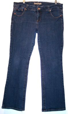 "Freestyle Jeans 18 Stretch Denim Bootcut Waist-38"" Rise-10"" Hips-44"" Inseam-30"" #Freestyle #BootCut"