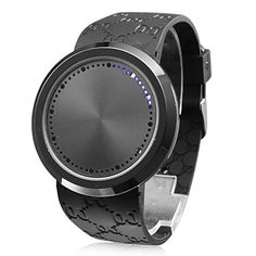 Unisex Touch Screen Blue LED Flashing Black Silicone Band Wrist Watch – USD $ 13.49