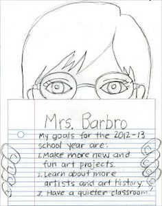 Art Projects for Kids: Me & My Goals Self Portrait