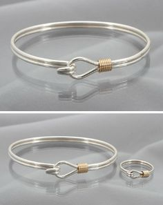 Simple and elegant. Just a touch of 14k gold. Perfect to wear with your pile of bracelets!