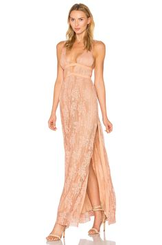 THE JETSET DIARIES Gabrielle Maxi Dress en Copper | REVOLVE