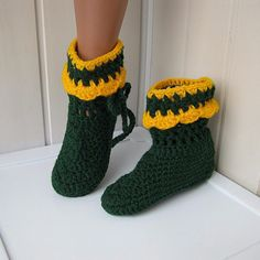 Slippers Boots homemade crochet boots knitted by NataliaHandmede