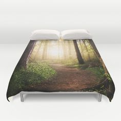 Forest Path duvet cover by Tjc555