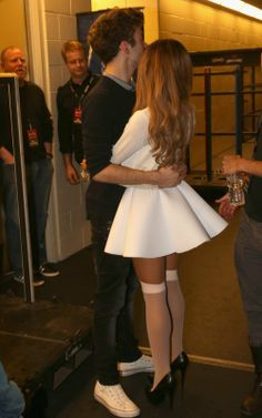The Wanted's Nathan Sykes Shows Support To Girlfriend Ariana Grande At Her Show Ariana Grande Legs, Adriana Grande, Ariana Grande Photos, Nylons, In Pantyhose, Oufits Casual, Dangerous Woman, Role Models, My Idol