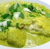 Filete de pescado en salsa de cilantro