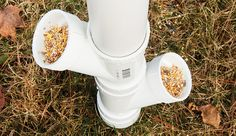 With simple PVC-pipe construction, you can keep your flock fed and watered without any of the post-meal cleanup.