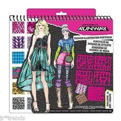project runway history book | Project-Runway-Fashion-Design-Portfolio-Stencils-Stickers-40-Sketch ...