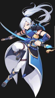 Anime Demon Boy, Anime Guys, Fantasy Character Design, Character Art, Fantasy Characters, Anime Characters, Avatar, Dragon Knight, Samurai Art