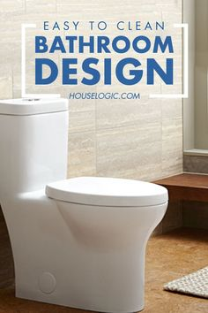 Create an easy-to-clean bathroom when you remodel your bathroom. Here are some design ideas from HouseLogic to make your bathroom as easy to clean as possible.