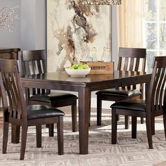 1000 Images About Ashley Furniture On Pinterest Side Chairs Dark Brown And Bench Set