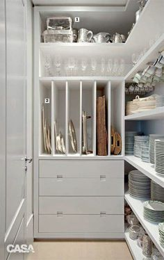 Organization Orgasms: 21 Well-Designed Pantries You'd Love to Have in Your Kitchen #basementdesign