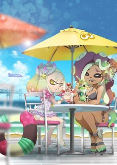 Marina is my favorite Splatoon character by far Splatoon Squid, Nintendo Splatoon, Splatoon 2 Art, Splatoon Comics, Splatoon Switch, Marina Splatoon, Pearl And Marina, Lolis Neko, Squid Girl