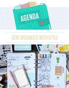 Agenda at @studio_calico - planner filofax class with Marcy Penner