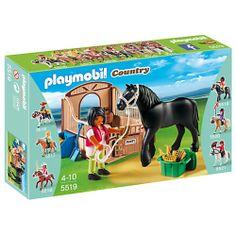 Drugim prezentowanym zestawem Serii Country jest Playmobil 5519 - Koń Fryzyjski z Brązowo-Beżowym Boksem.  Co oprócz figurki konia i jeźdźca znajduje się w zestawie? Sprawdźcie sami:)   Nie przegapcie kolejnych nowości w naszym sklepie  Miłego wekendu:)  #klocki #playmobil #playmobil5519 #playmobilcountry #zestaw #zabawki