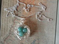 ROBIN'S BIRD NEST NECKLACE AMAZONITE Silver