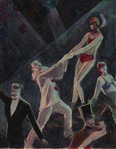 Walt Francis Kuhn American 1899 1949 Circus Performers Painting | eBay