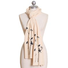 out on a limb cream indie scarf #scarf / #floral