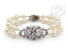 Hey, I found this really awesome Etsy listing at https://www.etsy.com/listing/189873591/wedding-bracelet-swarovski-pearl