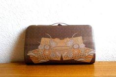 Vintage Japanese Kimono  Bag Clutch Brown by VintageFromJapan, $25.00