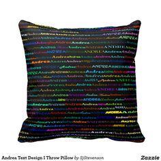 Andrea Text Design I Throw Pillow