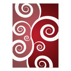 Elegant Bridal Shower White Swirls Red Invite DealsOnline Secure Check out Quick and Easy...