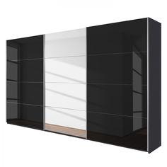 Schwebetürenschrank schwarz  Schrank Quadra 271,0 cm Alpinweiß Weiß 8599. Buy now at http://www ...