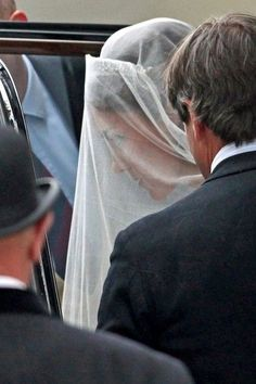 4/29/11 - A closeup shot. At this point the world was still waiting to hear who designed Kate's dress.