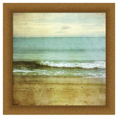 A delightful addition to a coastal-chic vignette, this charming art print showcases a serene beach motif.    Product: Wall art