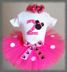 2nd Minnie Mouse Birthday Outfit Minnie Outfit by RBKBoutique, $45.00